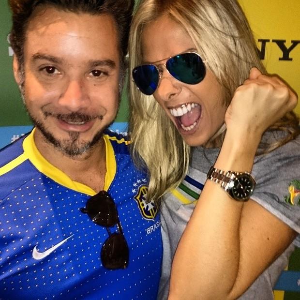 Copa do Mundo - Alexandre Iódice e Adriane Galisteu (Foto: Reprodução Instagram)