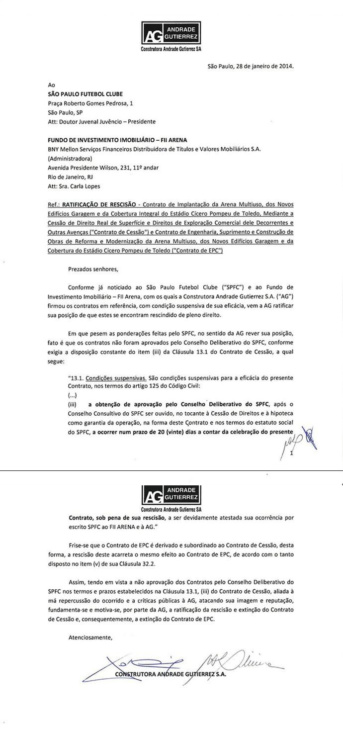 Documento São Paulo (Foto: Reprodução)