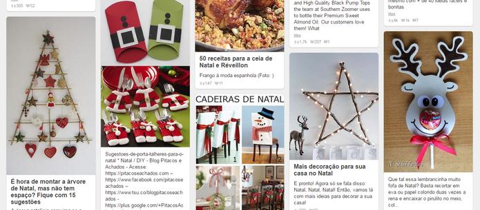Pinterest é uma rede social útil para encontrar ideias de decoração (Reprodução/Caio Bersot)