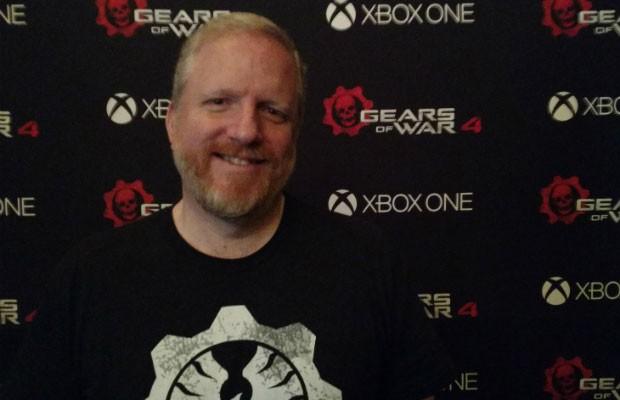 Rod Fergusson, diretor de 'Gears of War 4'. (Foto: Bruno Araújo/G1)