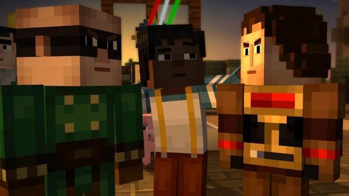 No Episódio 2: Requer Montagem de Minecraft: Story Mode descobrimos que Magnus e Ellegaard não se dão muito bem (Foto: Reprodução/Entertainment Budha)