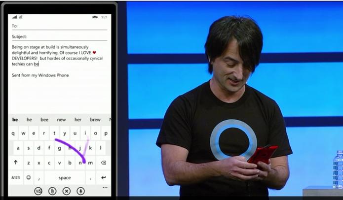 Windows Phone 8.1 tem teclado mais rápido que o Swipe, do Android (Foto: Divulgação)