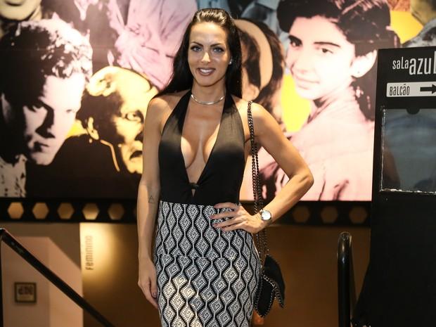 Carla Prata em estreia de peça na Barra da Tijuca, Zona Oeste do Rio (Foto: Roberto Filho/ Brazil News)