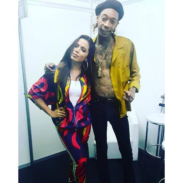 Anitta e Wiz Khalifa (Foto: reprodução/instagram)