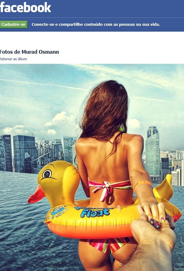 Foto de Murad Osmann para projeto Follow Me em Singapura (Foto: Reprodução/Facebook)