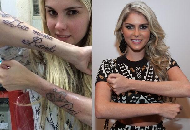 Bárbara Evans removeu as duas tatuagens em homenagem aos pais (Foto: Reprodução Instagram)