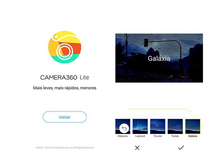 Camera360 Lite é uma boa opção para editar fotos com app mais leve (Foto: Reprodução/Barbara Mannara)