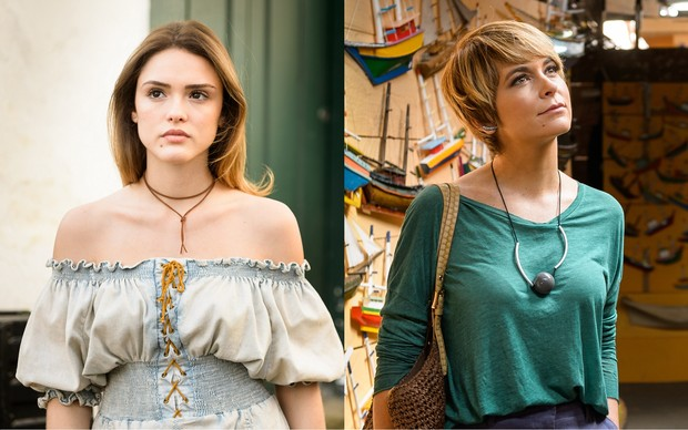 Isabelle Drummond e Cláudia Abreu dividem personagem na novela A Lei do Amor (Foto: Divulgação Globo)