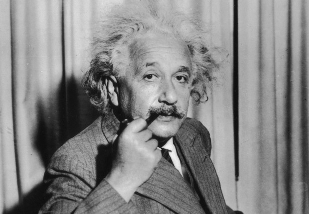 O físico Albert Einstein é visto em foto de 1933 (Foto: Keystone/Getty Images)