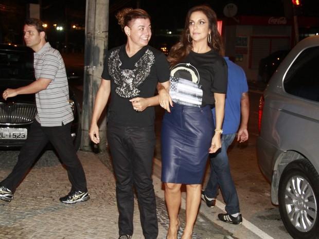 David Brazil e Ivete Sangalo em festa no Rio (Foto: Isac Luz/ EGO)