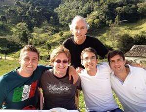 André Moritz meia Crystal Palace família (Foto: Arquivo pessoal)