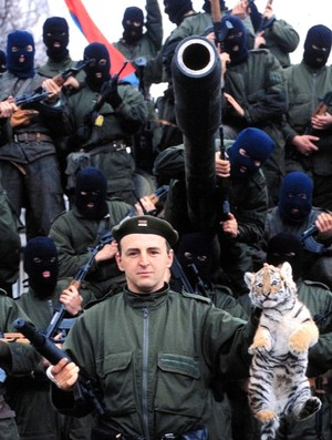 Arkan Obilic general de guerra e dono de clube Obilic (Foto: Arquivo AP)