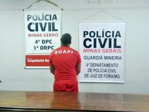 Preso suspeito de ser dono de cerca de meia tonelada de droga em Juiz de Fora (Foto: Roberta Oliveira/G1)