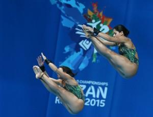 Ingrid Oliveira e Giovanna Pedroso Mundial de Kazan (Foto: Satiro Sodré)