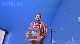 Palestra Leo Burd no Palco Mundo da CPBR 8 (Foto: Laura Martins / TechTudo)