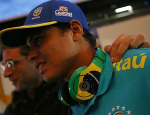 Thiago Silva seleção Brasil chegada (Foto: Mowa Press)