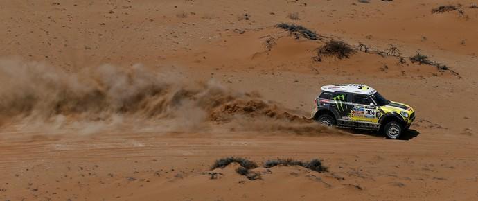 Nani Roma e Michel Perin na última etapa do Rally Dakar 2014 (Foto: Frederic Le Floch/DPPI)