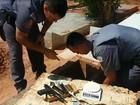 Polícia encontra arma e drogas dentro de túmulo em Araçatuba