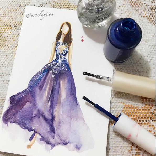 Vestido inspirado no Zuhair Murad (Foto: Reprodução / Instagram)