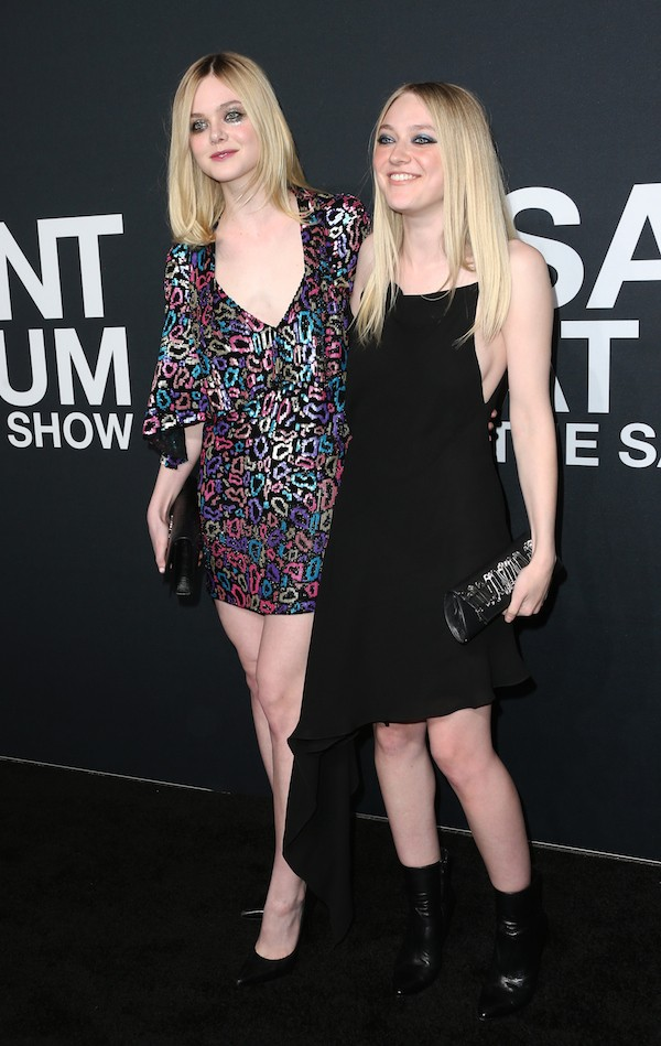As irmãs Dakota Fanning e Elle Fanning (Foto: Getty Images)