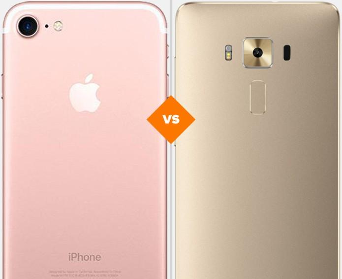 iPhone 7 ou Zenfone 3 Deluxe: veja qual celular se sai melhor em comparativo (Foto: Arte/TechTudo)