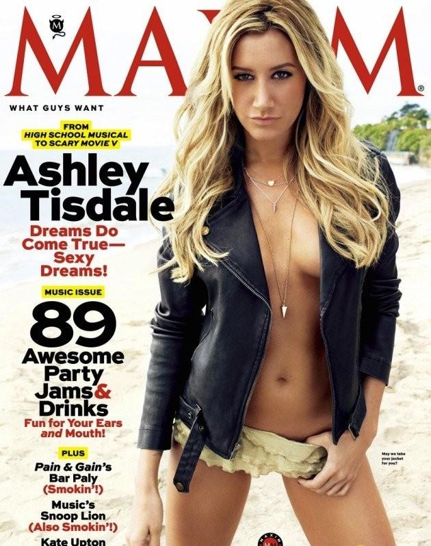 Ashley Tisdale na camap da 'Maxim' (Foto: Reprodução)