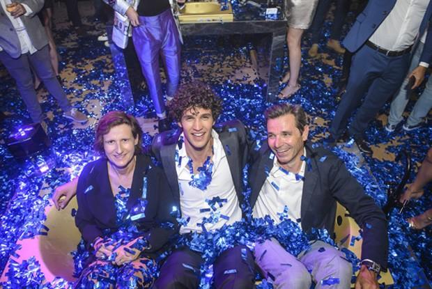 Anne Flipo, Francisco Henriques e Vincent Thilloy (VP das marca Paco Rabanne e Jean Paul Gaultier) (Foto: Fabio Cordeiro / Ed. Globo)