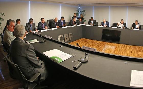 Conselho de Desenvolvimento Estratégico, formado por técnicos, da CBF (Foto: Rafael Ribeiro / CBF)
