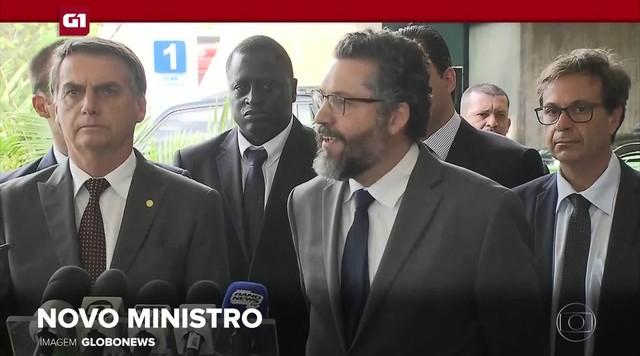 G1 em 1 Minuto: Bolsonaro anuncia Ernesto Araújo como ministro das Relações Exteriores