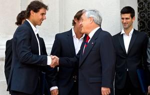 Nadal com o presidente do Chile Sebastian Pinera tênis (Foto: AFP)