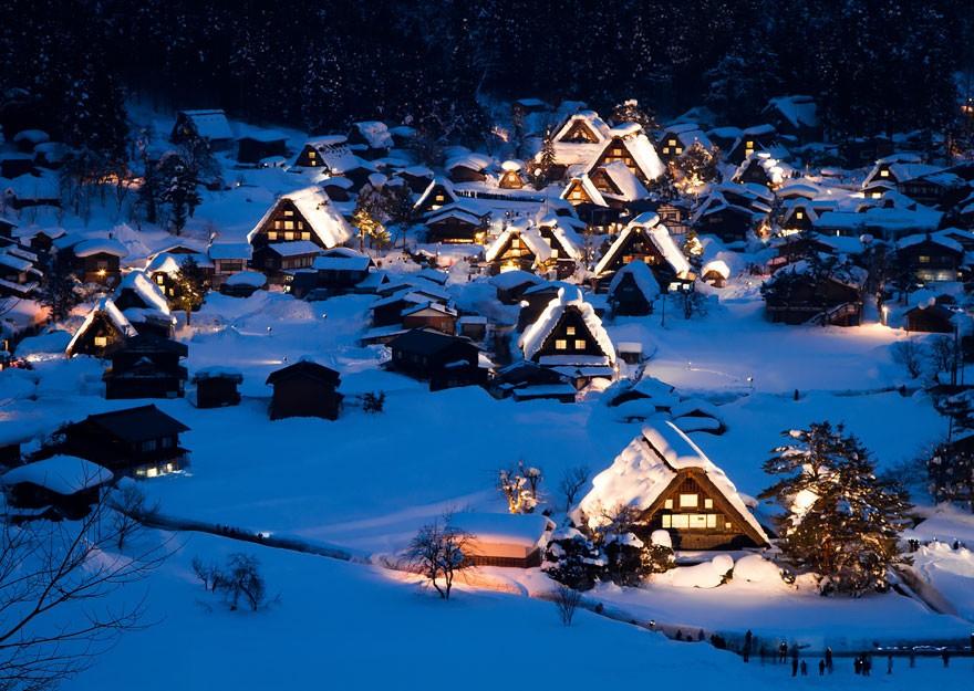 Shirakawa, no Japão (Foto: Divulgação)