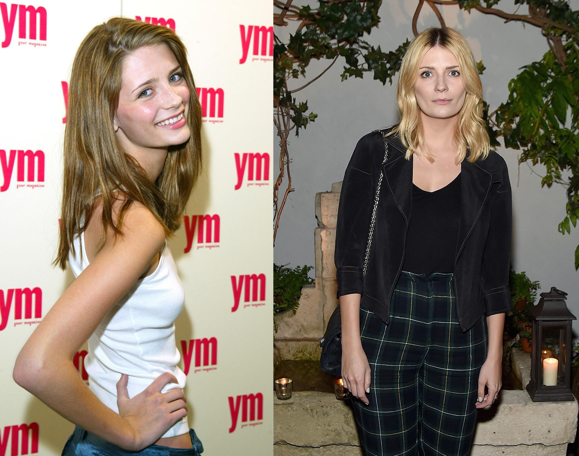 Mischa Barton em 2003 e em 2015 (Foto: Getty Images)