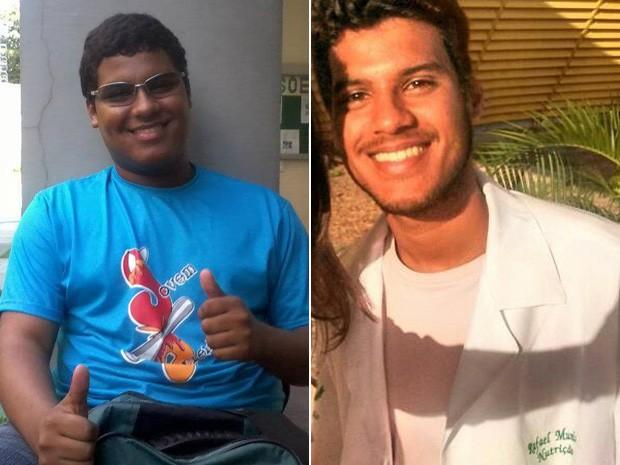 Rafael chegou a pesar 99,7 kg (esq.); hoje, tem 62 kg: ele deixou de comer carne quando tinha 16 anos (Foto: Rafael Muniz dos Reis/Arquivo Pessoal)