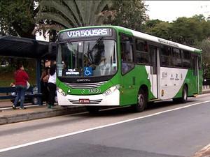 Ônibus do transporte público em Campinas (Foto: Reprodução EPTV)