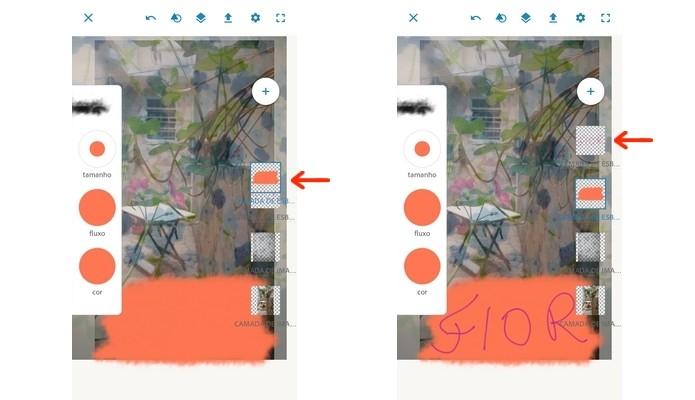 Mudança de posição de camadas no Photoshop Sketch (Foto: Reprodução/Raquel Freire)