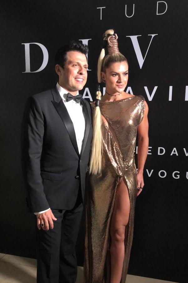 Wellington Muniz e Mirella Santos (Foto: Vogue Brasil/ Arthur Vahia)