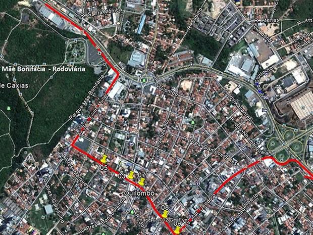 Desvio será usado pelos motoristas que precisam trafegar pela região do bairro despraiado (Foto: Divulgação / Secopa)