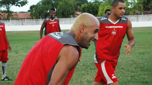 fernando sá atacante do auto esporte auto esporte (Foto: Lucas Barros / Globoesporte.com/pb)