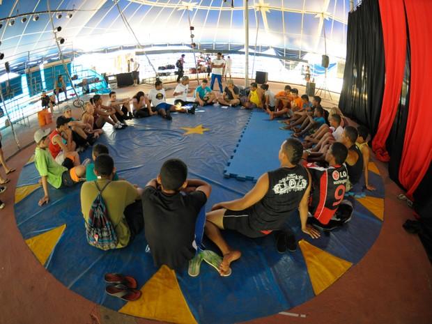 Encontro rede circo brasil (Foto: Layza Vasconcelos)
