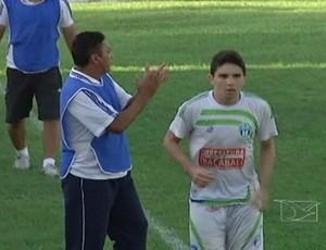 Pedro Gusmão - atacante do Bacabal (Foto: Reprodução/TV Mirante)