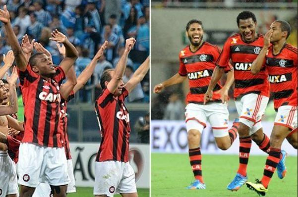 Atlético/PR e Flamengo (Foto: Montagem sobre imagens/Fla imagens/Divulgação)