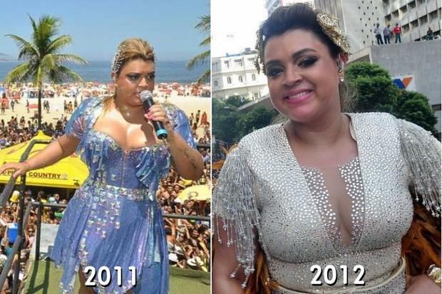 Preta Gil e os looks usados em 2011 e 2012 (Foto: Arquivo EGO)