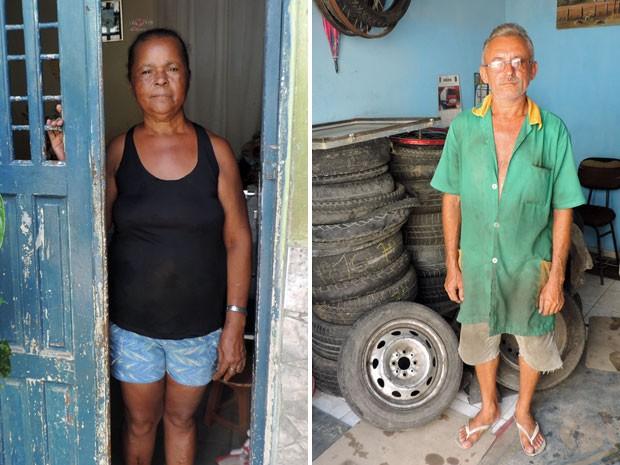 Com medo das desapropriações, Maria José diz que crescimento é bom se não mexer com comunidade. Francisco já precisou se mudar por causa da especulação imobiliária (Foto: Marina Barbosa / G1)