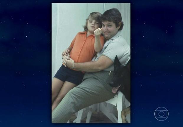 Em programa, Jô mostra foto da infância do filho (Foto: Reprodução/TV Globo)