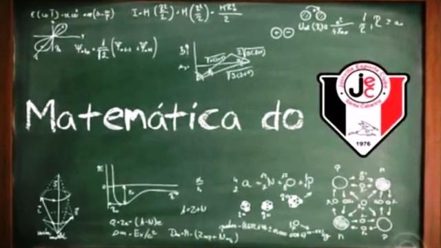 Matemático faz as contas dos jogos do JEC (Foto: RBS TV/Reprodução)