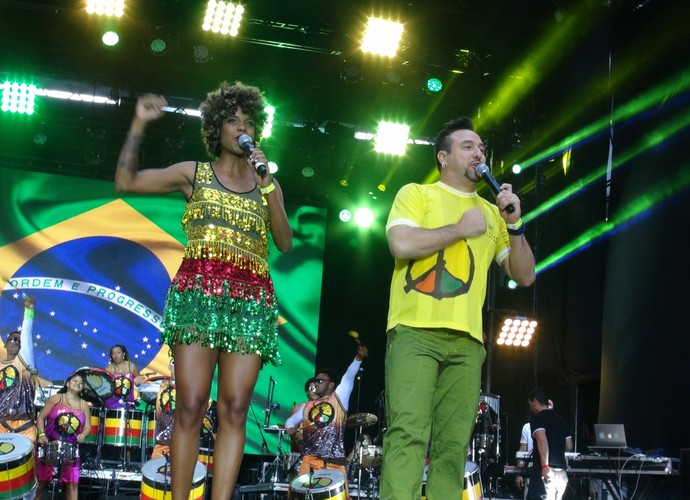Olodum no BR Day NY 2015 (Foto: TV Globo)