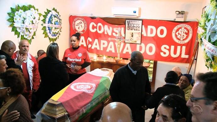 Internacional Inter Caçapava velório (Foto: Reprodução/RBS TV)