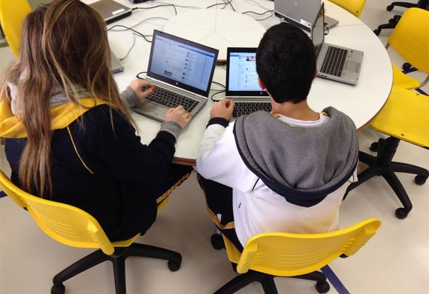 No Colégio Dante Alighieri, alunos dizem que indiretas e ofensas anônimas pelo aplicativo Secret têm causado intrigas na sala de aula (Foto: Ana Carolina Moreno/G1)