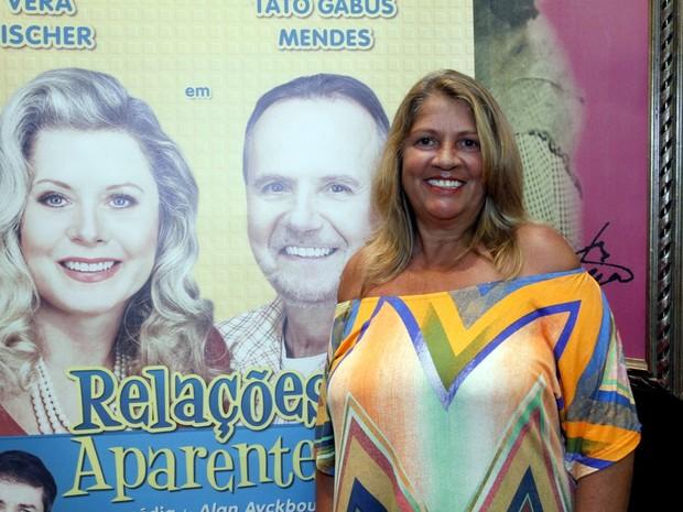 Tássia Camargo em estreia de peça na Zona Sul do Rio (Foto: Marcos Ferreira/ Brazil News)