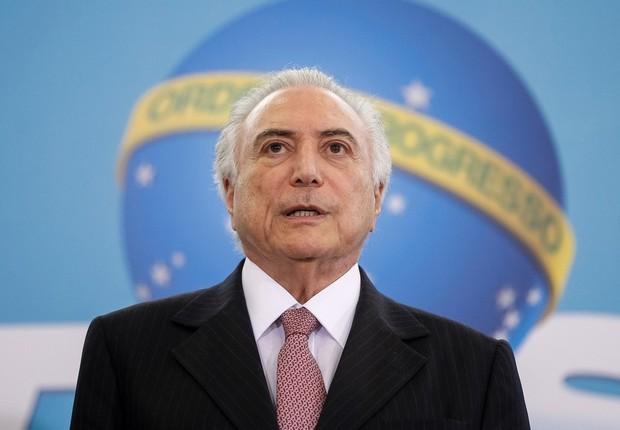 O presidente Michel Temer em cerimônia no Planalto (Foto: Beto Barata/PR)
